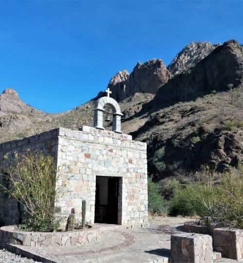 petite chapelle dans la Sierra de la Giganta , Basse Californie du Sud